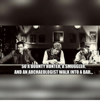 Funny, Funny Jokes, and Memes: SOA BOUNTYHUNTER, A'SMUGGLER,  AND AN ARCHAEOLOGIST WALK INTO A BAR.. Moreeeeeee mmeeeemmmmeeeessssss! ((Warning, I might have to change my posting frequency due to the fact that, its really hard to find so many memes every day! 😅)) DarthBaker ⬛ ⬛ ⬛ Tags: StarWars Memes Funny jokes memesdaily collection album