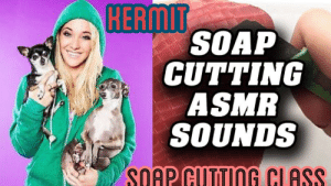 Ass, Funny, and Lol: SOAP  CUTTING  ASMR  SOUNDS  SOAP CUTTING CI ASS If Jenna marbles can't make ASMR sound amazing, no one can lol
