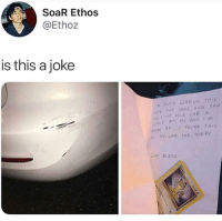 😂😂 Follow @gamingbible for more: SoaR Ethos  @Ethoz  is this a joke  S0M  Hrt YOUR KAR A  LITILE BIT, My BAD. IM  BkoKE AF  FOUND THIS  GOD BLESs 😂😂 Follow @gamingbible for more