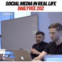 Memes, Social Media, and Book: SOCIAL MEDIA INREALUFE  DAILY VEE 202  @GARYVEE I'm working on my new book CRUSHED IT 📕📘📗: in the new episode of DailyVee you get to see some of that and more - full link in story and my bio