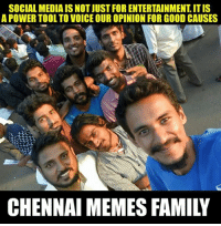 Do jallikattu Chennai Memes: SOCIAL MEDIA IS NOT JUST FOR ENTERTAINMENT ITIS  A POWER TOOL TO VOICE OUROPINION FOR GOOD CAUSES  CHENNAI MEMES FAMILY Do jallikattu Chennai Memes
