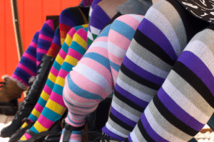 sockdreams: Sock Journal: Our Proudest Year Yet Every year we do a round-up of our rainbow socks for June, which we hold dear as Pride Month! In past years we've even branched out to suggest styles and combinations of styles  which best represent the other pride flags, but this year we went ahead  and made our own! Additionally, we've been rethinking our rainbows and  adding exciting new variations, because whatever kind of pride you wish  to express, we want to have you covered! Because we know that pride month is about more than rainbows, we created our own line of Proud Stripes  after receiving requests for them last June. We started with four  different flag stripes, and it immediately became clear that four wasn't  enough! Now we have seven different colorways and two different lengths, by popular demand!  Proud Stripes in Pink Rainbow are based off the original Pride Flag designed by Gilbert Baker.    Neon Pink/Neon Purple/Turquoise stripes represent the Pansexual Pride flag.    Columbia/Rose/White stripes for Trans Pride.    Black/Grey/White/Purple stripes make an Asexual Pride flag.    Purple/White/Kelly stripes for Genderqueer Pride.    Neon Yellow/White/Purple/Black stripes form the Nonbinary Pride flag.   Neon Pink/Purple/Royal stripes represent Bisexual Pride. In fact we love our Proud Stripes so much that our Pride Month seasonal logo sticker  currently features the pink rainbow stripes! Add one to your next order  for free, but don't wait too long - she's only available while supplies  last!  Speaking of pink rainbows, this year we got inspired by the softer side  of this favorite and versatile colorway. Introducing two lighter,  retro-style rainbows: Pastel Rainbow and Sidewalk Chalk!   Most recently we were inspired to bring in some vertical rainbow stripes, but then we thought we'd mix things up even further… in our new Dreamer Nocturnal Rainbows and Dreamer Laser Rainbows,  you can decide if you want the full spectrum, all warm tones, or all  cool tones! Since the full rainbow features one cool leg and one warm  leg, you can buy two pairs (either two rainbow or one each of the warm  and cool options) and have the option to wear them as all three  configurations! Dreamer Nocturnal Rainbows feature our regenerated cotton yarns and muted color pallet from our Harvest Rainbows.  Dreamer Laser Rainbows feature our high quality acrylic yarns, in the same bold, bright colors as our Radiant Rainbows.    Of course, we've still got a whole array of our regularly scheduled rainbows and gifts for Pride  to choose from, so even if our innovative new styles for Pride aren't  quite You, you should be able to find something that is! Just remember  this one important thing…. we are incredibly proud of our amazing,  unique customer base, and we wouldn't change a single one of you. Happy  Pride Month!    GAY Crews * Rainbow Giftcard * QUEER PRIDE Knee Highs     ♥RosalindSocks by Sock Dreams • Free Shipping in the US • $5 International ShippingFind us on facebook | twitter | pinterest | instagram | sock journal | g+   : sockdreams: Sock Journal: Our Proudest Year Yet Every year we do a round-up of our rainbow socks for June, which we hold dear as Pride Month! In past years we've even branched out to suggest styles and combinations of styles  which best represent the other pride flags, but this year we went ahead  and made our own! Additionally, we've been rethinking our rainbows and  adding exciting new variations, because whatever kind of pride you wish  to express, we want to have you covered! Because we know that pride month is about more than rainbows, we created our own line of Proud Stripes  after receiving requests for them last June. We started with four  different flag stripes, and it immediately became clear that four wasn't  enough! Now we have seven different colorways and two different lengths, by popular demand!  Proud Stripes in Pink Rainbow are based off the original Pride Flag designed by Gilbert Baker.    Neon Pink/Neon Purple/Turquoise stripes represent the Pansexual Pride flag.    Columbia/Rose/White stripes for Trans Pride.    Black/Grey/White/Purple stripes make an Asexual Pride flag.    Purple/White/Kelly stripes for Genderqueer Pride.    Neon Yellow/White/Purple/Black stripes form the Nonbinary Pride flag.   Neon Pink/Purple/Royal stripes represent Bisexual Pride. In fact we love our Proud Stripes so much that our Pride Month seasonal logo sticker  currently features the pink rainbow stripes! Add one to your next order  for free, but don't wait too long - she's only available while supplies  last!  Speaking of pink rainbows, this year we got inspired by the softer side  of this favorite and versatile colorway. Introducing two lighter,  retro-style rainbows: Pastel Rainbow and Sidewalk Chalk!   Most recently we were inspired to bring in some vertical rainbow stripes, but then we thought we'd mix things up even further… in our new Dreamer Nocturnal Rainbows and Dreamer Laser Rainbows,  you can decide if you want the full spectrum, all warm tones, or all  cool tones! Since the full rainbow features one cool leg and one warm  leg, you can buy two pairs (either two rainbow or one each of the warm  and cool options) and have the option to wear them as all three  configurations! Dreamer Nocturnal Rainbows feature our regenerated cotton yarns and muted color pallet from our Harvest Rainbows.  Dreamer Laser Rainbows feature our high quality acrylic yarns, in the same bold, bright colors as our Radiant Rainbows.    Of course, we've still got a whole array of our regularly scheduled rainbows and gifts for Pride  to choose from, so even if our innovative new styles for Pride aren't  quite You, you should be able to find something that is! Just remember  this one important thing…. we are incredibly proud of our amazing,  unique customer base, and we wouldn't change a single one of you. Happy  Pride Month!    GAY Crews * Rainbow Giftcard * QUEER PRIDE Knee Highs     ♥RosalindSocks by Sock Dreams • Free Shipping in the US • $5 International ShippingFind us on facebook | twitter | pinterest | instagram | sock journal | g+