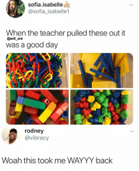 Memes, Teacher, and Good: sofia.isabelle  @sofia_isabelle1  When the teacher pulled these out it  was a good day  @will _ent  rodney  @vibracy  Woah this took me WAYYY back 🤣 Childhood memories