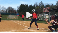 Softball player takes one of the craziest swings you'll ever see! (VID) Watch >>>>