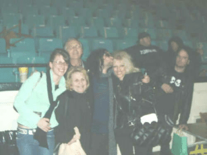 softcemetery:  Bert McCracken with Gerard and Mikey Way's family : softcemetery:  Bert McCracken with Gerard and Mikey Way's family