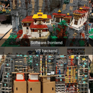 IRL Example of Frontend VS Backend from Brickcon Seattle: Software frontend  VS backend IRL Example of Frontend VS Backend from Brickcon Seattle