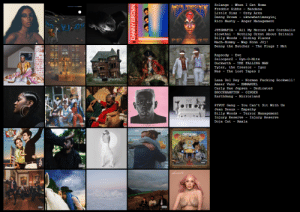 my current fav albums of 2019. tell me what im missing: Solange  - When I Get Home  ANGER MANAGENENT  Freddie Gibbs - Bandana  Little Simz - Grey Area  Danny Brown -  Rico Nasty - Anger Management  uknowhatimsayinį  JPEGMAFIA - All My Heroes Are Cornballs  slowthai - Nothing Great About Britain  Billy Woods  Мach-Hoшmy  - Hiding Places  Wap Konn Jòj!  RO MSTY  KINY BEAIS  Benny the Butcher - The Plugs I Met  Rapsody - Eve  Zelooperz - Dyn-0-Mite  Duckwrth - THE FALLING MAN  Tyler, the Creator - Igor  Nas - The Lost Tapes 2  Ma. M  Lana Del Rey - Norman Fucking Rockwell!  Ameer Vann - EMMANUEL  Carly Rae Jepsen - Dedicated  BROCKHAMPTON - GINGER  EarthGang - Mirrorland  PIVOT Gang - You Can't Sit With Us  Jean Deaux - Empathy  Billy Woods - Terror Management  Injury Reserve - Injury Reserve  Doja Cat - Amala  TIEF LOSTTAPES IL  ERRTHGONG  ЕНТНСОМ  nireieloleLND  Arala  Empathy  итр  DANNY BROWN my current fav albums of 2019. tell me what im missing