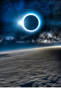 Solar Eclipse from Space.: Solar Eclipse from Space.