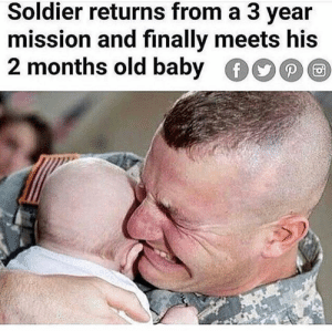 ⚠️WARNING: DO NOT 🙅🏻‍♂️ follow @ifunny_4u if you are offended by OFFENSIVE MEMES and SEXUAL 🔞🍑 @ifunny_4u 💦🔞: Soldier returns from a 3 vear  mission and finally meets his  2 months old baby ⚠️WARNING: DO NOT 🙅🏻‍♂️ follow @ifunny_4u if you are offended by OFFENSIVE MEMES and SEXUAL 🔞🍑 @ifunny_4u 💦🔞