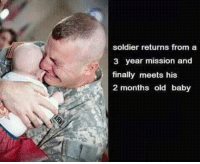 """Dank, Meme, and Http: soldier returns from a  3 year mission and  finally meets his  2 months old baby <p>Touching 😢 via /r/dank_meme <a href=""""http://ift.tt/2uKSelD"""">http://ift.tt/2uKSelD</a></p>"""
