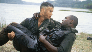 Soldiers of the 4th Platoon of 47th Infantry share on last moment with each other Vietnam June 7, 1967: Soldiers of the 4th Platoon of 47th Infantry share on last moment with each other Vietnam June 7, 1967