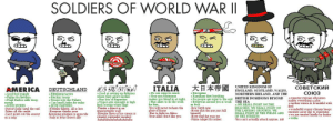 Africa, America, and Food: SOLDIERS OF WORLD WAR I  #7983763  UNITED KINGDOMO WALES,  COBETCKW  ITALIA  AMERICA  +Good food supply  +Fights for freedom  DEUTSCHLAND  +Good at setting up defenses  Weeeyarent needed  +Upper arm strength is high  Thinks a fost is an  impenetrable wall  chunky surrende monkex  hahahahahahahahahahaha  COHO3  +superior russian education  thr issia is hountiful with  + No one expects much  +Yor lend in at night  +Disciprine  nera ar to the end  +Everywan alound you is weak  Bo birth rate  Horry shit dat guy just kill  Hory shid dat wan too  Prime tahret for nukes  Blitzkreig tactics  +Bitchin' music  NORTHERN IRELAND. AND THE  bir  BRITISH DOMINONS BEYOND  m Habor adds troop  +MUH NUKESl the end  Fuhrer  + p den for miles  +Has allies to do the work  THE SEA  +MUH PA  PEACHES WwE SHALL FIGHT ON  food  never reclaim the  glory of in Africa  your allies dont like you  l is lost  ntil  -Takes all the credit  lerful su  enemies away due to sunu  +we are treated kindly by leader  os  THE LANDING GROUNDS, WE  -Everyone thinks your  THE FIELDS AND  is  oint out the enemy  Italy ispam is genocide  on a t  IN THE STREETS  You can't actually attack anyone, m8 For the Motherland!