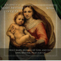 """SOLEMNITY OF  MARY MOTHER  Archdiocese of  LOS ANGELE  OF GOD  HOLY MARY, MOTHER OF GOD, AND OUR  OWN MOTHER, PRAY FOR US! """"Mary is the mother and model of the Church, who receives the divine Word in faith and offers herself to God as the """"good soil"""" in which he can continue to accomplish his mystery of salvation. The Church also participates in the mystery of divine motherhood, through preaching, which sows the seed of the Gospel throughout the world, and through the sacraments, which communicate grace and divine life to men. The Church exercises her motherhood especially in the sacrament of Baptism, when she generates God's children from water and the Holy Spirit, who cries out in each of them: """"Abba, Father!"""" (Gal 4:6). Like Mary, the Church is the mediator of God's blessing for the world: she receives it in receiving Jesus and she transmits it in bearing Jesus. He is the mercy and the peace that the world, of itself, cannot give, and which it needs always, at least as much as bread.""""-Pope Benedict Make 2017 the year of Mary, if you don't already have a devotion to her I can't urge you enough to get one. Read up on all her apparitions and see which one resonates with you the most 🤗 MaryMotherofGod feastday MotherMary prayforus MotherofGod queen of heaven and earth loveourmomma shespoilsus rolldembeads rosary catholic catholicchurch christian"""