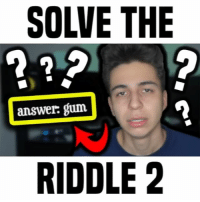 Friends, Memes, and Riddle: SOLVE THE  answer: gum  RIDDLE 2 how many did you get? • follow me @gabeerwin for more • 👇🏻 TAG YOUR FRIENDS 👇🏻