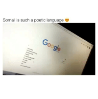 Amazing: Somali is such a poetic language  Sle  ransiate  witter  sn  canada  trust Amazing