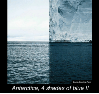 Memes, Shade, and Antarctica: Some Amazing Facts  Antarctica, 4 shades of blue