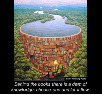 let it flow: Some Amazing Facts  Behind the books there is a dam of  knowledge, choose one and let it flow.