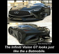 Facts, Memes, and Vision: Some Amazing Facts  The Infiniti Vision GT Iooks just  like the a Batmobile