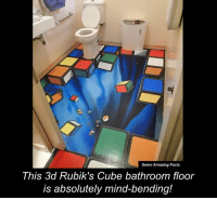 Memes, 🤖, and Cube: Some Amazing Facts  This 3d Rubik's Cube bathroom floor  is absolutely mind-bending!