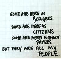 """""""Some are here as refugees, some are here as citizens, some are here without papers, but they are all my people."""" - GeneWu. Governor Abbott just signed SB4, one of the harshest immigration laws banning sanctuary cities in Texas. It permits police with the power to question anyone's immigration status. Head to the link in bio to see how you can stand with the people of Texas and fight this terrible bill. Repost @wegohighproject immigration texas sb4 RefugeesWelcome immigrants: SOME ARE HERE  A  SOME ARE HERE MS  CMZENS  SOME MRE MARE WmtoNT  PAPERS  BUT THEY ARE ALL My  PEOPL """"Some are here as refugees, some are here as citizens, some are here without papers, but they are all my people."""" - GeneWu. Governor Abbott just signed SB4, one of the harshest immigration laws banning sanctuary cities in Texas. It permits police with the power to question anyone's immigration status. Head to the link in bio to see how you can stand with the people of Texas and fight this terrible bill. Repost @wegohighproject immigration texas sb4 RefugeesWelcome immigrants"""