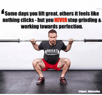 Intend to move with perfect technique every single time you touch the barbell. Some days you'll feel great & everything seems to click. Others, it feels like no matter how hard you try - things just feel like 💩. However, you if you never give up the pursuit of perfecting technique - good things will happen in the end. 🙏 . Play the long game & forget the bad days - everyone has them. It's how you react when the bad days happen that matters ________________________________ Squat SquatUniversity Powerlifting weightlifting crossfit training wod workout gym fit fitfam fitness fitspo oly olympicweightlifting hookgrip mobility USAW physicaltherapy lifting crossfitter quote instaquote motivation motivationalquotes: Some days you lift great, others it feels like  nothing clicks- but you NEVER stop grinding &  working towards perfection.  SQUAT  @Squat Universituy Intend to move with perfect technique every single time you touch the barbell. Some days you'll feel great & everything seems to click. Others, it feels like no matter how hard you try - things just feel like 💩. However, you if you never give up the pursuit of perfecting technique - good things will happen in the end. 🙏 . Play the long game & forget the bad days - everyone has them. It's how you react when the bad days happen that matters ________________________________ Squat SquatUniversity Powerlifting weightlifting crossfit training wod workout gym fit fitfam fitness fitspo oly olympicweightlifting hookgrip mobility USAW physicaltherapy lifting crossfitter quote instaquote motivation motivationalquotes