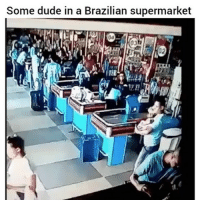 Dude, Instagram, and Memes: Some dude in a Brazilian supermarket @entertain is the most entertaining page on instagram, must follow! @entertain