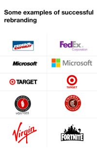 Lol, Target, and Fedex: Some examples of successful  rebranding  FedEx  Xe  Corporation  EXPRE  MicrosoftMicrosoft  OTARGET  TARGET  PO  CAN  A N  u/jzc1023  FORTNITE En qué momento desterramos el LOL