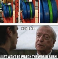 Memes, Live, and Watch: SOME MEN  JUST WANT TO WATCH THE WORLD BURN. Cruel world we live in 🙁