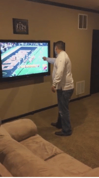 Some nut job Bama fan punched his TV after they lost last night.: Some nut job Bama fan punched his TV after they lost last night.