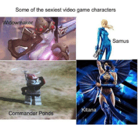 video game: Some of the sexiest video game characters  Widowmaker  Samus  itana  Commander Ponds