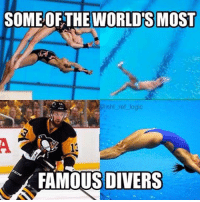 Taking a page out of Crosby's book eh? Bonino Bonino Boninoooo: SOME OF THE WORLDS MOST  @nhl ref logic  FAMOUS DIVERS Taking a page out of Crosby's book eh? Bonino Bonino Boninoooo