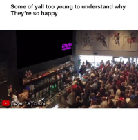 Funny, youtube.com, and Happy: Some of yall too young to understand why  They're so happy  spartaroshi 😭😭😭💯 👉🏽(via: spartayoshi-YouTube)