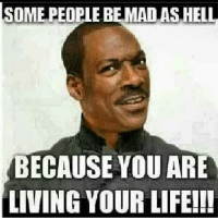 SOME PEOPLE BE MAD AS HEL  BECAUSE YOU ARE  LIVING YOUR LIFE!!! Can I live? Can I? If you mad at me you mad at GOD!! @mizzfierceffl lmfao lmao funny hilarious repost sad true real truth whyyoumad whatido youmad
