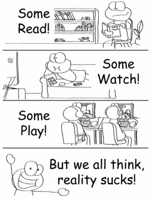 United, Watch, and Reality: Some  Read!  Some  watch!  o-  0  Some  Play!  But we all think,  reality sucks! United opinion [OC]