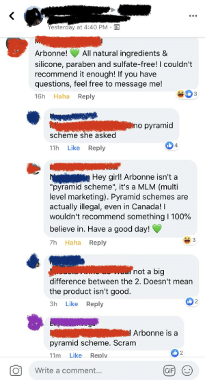 """Somebody posted in a vegetarian and vegan Facebook group I'm in, asking for a vegan and cruelty-free shampoo/conditioner. She specifically stated in her post """"don't suggest any pyramid schemes like Monat"""". Then... this girl commented.: Somebody posted in a vegetarian and vegan Facebook group I'm in, asking for a vegan and cruelty-free shampoo/conditioner. She specifically stated in her post """"don't suggest any pyramid schemes like Monat"""". Then... this girl commented."""