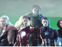 Somebody put googly eyes on Hulk in this avengers painting: Somebody put googly eyes on Hulk in this avengers painting