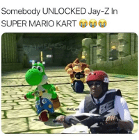 Mario Kart: Somebody UNLOCKED Jay-Z In  SUPER MARIO KART  @will ent