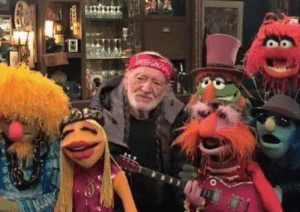 Somehow Willie Nelson looks the least stoned.: Somehow Willie Nelson looks the least stoned.