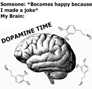 awesomacious:  If people are happy I am happy: Someone: *Becomes happy because  I made a joke*  My Brain:  Но  NH2  Он  DOPAMINE TIME  OH  NH2  Он  HO  Он  но  NH2 awesomacious:  If people are happy I am happy