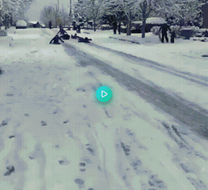 Someone called the police on kids sledding down a road so the cops investigated: Someone called the police on kids sledding down a road so the cops investigated