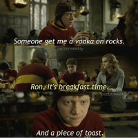 America, Birthday, and Harry Potter: Someone get me a vodka on rocks.  potter weekly  Ron, it's breakfast time.  Potter week  And a piece of toast, ✎✐✎ ↯ ⇢ ME IN THE MORNINGS BEFORE SCHOOL ↯ ⇢ I am SO TIRED (I know I've been saying this for like the past 3 captions straight but I actually am, like my eyes are barely open, I am so sleep deprived I would probably end up filling myself up to the brim with caffeine - not like I don't do that everyday already tho) ↯ ⇢ Go follow the tagged account! They're featured for the week and deserve more followers :) ✎✐✎ Birthday(s) Of The Day 👇🏼🎂🎉 ⇢ Wish Jamo a very happy birthday in the comments please! ✎✐✎ My Other Accounts: ⇢ @TheWizardWeekly - [ account for blended-video-aesthetic edits ] ⇢ @MarvelsWomen - [ co-owned Marvel account ] ⇢ @HPTexts - [ co-owned Harry Potter text messages account ] ⇢ @LumosTutorials - [ co-owned instagram tutorial account ] ✎✐✎ QOTD : Try to name a country for every letter of your first name? (I swear if anyone comments America) AOTD : France, Luxembourg, Oman, Romania, Austria