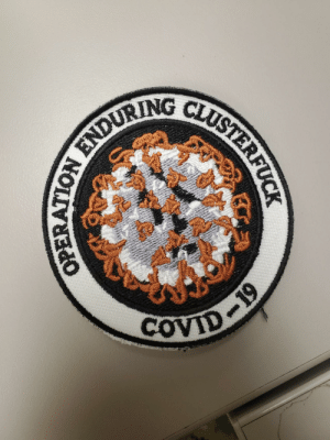 Someone made Patches in honor of COVID.: Someone made Patches in honor of COVID.