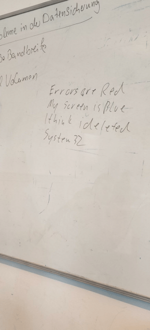 Someone wrote this in my IT class: Someone wrote this in my IT class