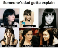 Blunts, Emily Blunt, and Katy Perry: Someone's dad gotta explain  Zooey Deschanel  Katy Perry  Siwan Morris  Katie Featherson  Emily Blunt  Mia Kirshner