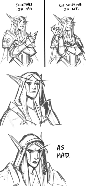 romans-art:  low poly Sylvanas scribbles  Todays mood: SOMETHES  BUT SOMETIME  TM MAD   AS  MAD romans-art:  low poly Sylvanas scribbles  Todays mood