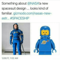 Dank, Memes, and Nasa: Something about  a NASA  a new  spacesuit design looks kind of  familiar  gizmodo.com/nasas-new  astr... #SPACESHIP  1/26/17, 1:52 AM Lmao 👊🏻TAG your HOMIES👊🏻 - Credit: Like for good luck ignore for bad luck - 👌🏼check out my youtube - in bio - Partner- @rize.xnuclear My backup- @memes_are_mee.2 My clan- @rize_above.all - Support appreciated😉 👌🏼 Tags 🚫 IGNORE 🚫 420 memesdaily Relatable dank Memes HoodJokes Hilarious Comedy HoodHumor ZeroChill Jokes Funny KanyeWest KimKardashian litasf KylieJenner JustinBieber Squad Crazy Omg Accurate Kardashians Epic bieber Weed TagSomeone memesaremee trump rap drake