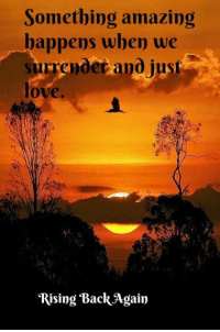 (¯`♥´¯).✫*  `*.¸.* ´* Peace & Love: Something amazing  happens when we  surrender and just  love.  Rising Back Again (¯`♥´¯).✫*  `*.¸.* ´* Peace & Love
