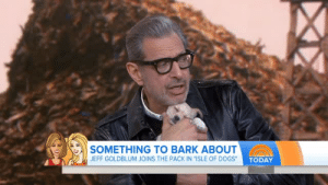 """taurusqueer:  potterheadqueenie: THE PUPPY FELL ASLEEP 😭 i would fall asleep in the arms of jeff goldblum too: SOMETHING TO BARK ABOUT  JEFF GOLDBLUM JOINS THE PACK IN """"ISLE OF D  OGS TODAY taurusqueer:  potterheadqueenie: THE PUPPY FELL ASLEEP 😭 i would fall asleep in the arms of jeff goldblum too"""