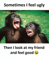 SuperTroll: Sometimes I feel ugly  Then I look at my friend  and feel good SuperTroll