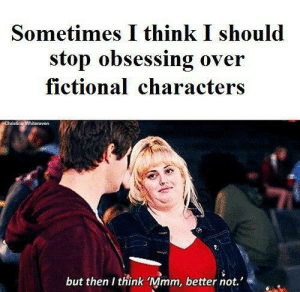 I believe in consistency: Sometimes I think I should  stop obsessing over  fictional characters  Christina Whiteraven  but then I think 'Mmm, better not.' I believe in consistency